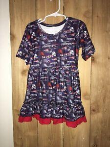 NFL New England Patriots Girls Team Dress Size 5/6 New