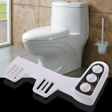 Non-Electric Mechanical Bidet Toilet Seat Attachment Nozzle Hot/Cold Water Spray