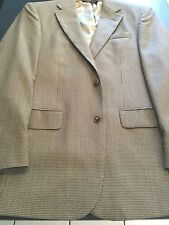 Jos.A.Bank Signature A New Stylish Taupe Mini Houndstooth Spt Coat 38R 100% Wool