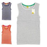 New Ex Mini Boden Girl's Striped  Lace Trim Ribbed Vest