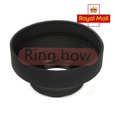 67mm 3 Stages Collapse Rubber Lens Hood Fr Sony Canon Nikon Pentax Tamron OM UK