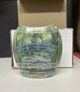 Goebel Claude Monet The Water Lilly Pond Small Vase Artis Orbis Germany