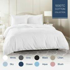 100% Cotton 1000TC Single/KS/Double/Queen/King/Super K Quilt/Duvet Cover Set
