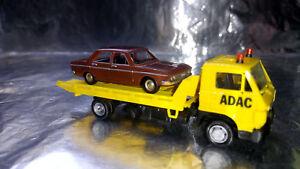 * Herpa Basic 094191A1BR  MAN G 90 Wrecker ADAC with Audi 100 LS Car load