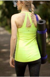 Lululemon Size 6 Scoop Me Up Tank Ray Neon Green Yoga Run Top