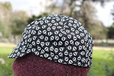 CYCLING CAP ONE SIZE 4 PANELS  SPOOKY   SKULL GLOW IN THE DARK 100% COTTON