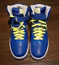 NIKE AIR FORCE 1 HIGH TOP SHOES Blue metallic volt UK 8.5