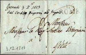 """29 - STATO PONTIFICIO - PREFILATELICA """"116 ROME"""" 1813 - NAPOLEONICA"""