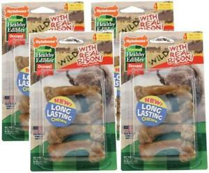 (4 Pack) Nylabone Healthy Edibles Wild Bison Chew Treats, Small, 4 Per Pack