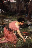 "Handpainted Oil painting flora gather flowers 1890 john william waterhouse 36"""