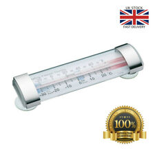 Horizontal Freezer / Fridge Thermometer with Suction Cups Check Temperature New
