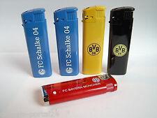 5er Set Fan - Feuerzeuge FC Schalke 04 - BvB 09 Dortmund  FC Bayern - Raucherset