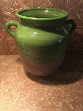 Southern Living at Home Vibrant Green  Rustic  Tuscan Olive Jar Du Marais.
