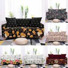 1/2/3/4 Seaters Sofa Covers Flower Plant Stretch Cover Protector Polyester Decor