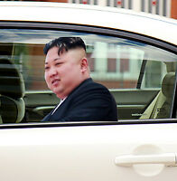 Kim Jung un Ride with me Car Decal Funny Window Sticker x1