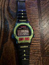 Vintage Women Timex Ironman Triathlon Watch Indiglo 8 Lap Fluorescent Green 1997