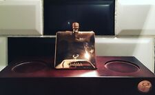 More details for rare new glenfiddich whisky hip flask stainless steel / copper plated & w. board