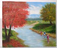 Original Landscape Painting on Canvas 20 x 24 by Eusebio Vidal 2006 Signed