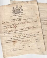 More details for lovely antique pair of forms of proclamation marriage edinburgh 1833