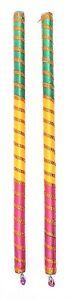 Dandiya Sticks - Wooden / Satin - any colour/ Hindu / Navratri