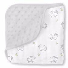 Pink Heavenly Floral Shimmer Premium SwaddleDesigns Muslin Snuggle Blanket