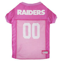 Oakland Raiders Licensed NFL Pets First Dog Pet Mesh Pink Jersey Sizes XS-L