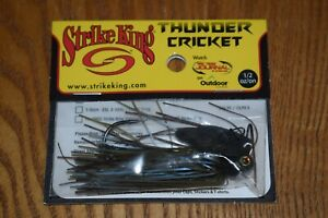 Strike King Thunder Cricket Vibrating Bladed Jig 1/2oz (Blue Craw) NIP