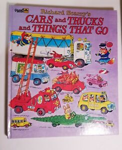 1974 Vintage Richard Scarry's Scary's CARS AND TRUCKS AND THINGS THAT GO BOOK
