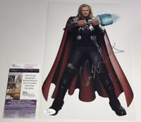 CHRIS HEMSWORTH Signed Captain America 8X12 Photo In Person Autograph JSA COA