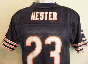 Chicago Bears 23 Devin Hester Football Jersey Youth Large 14 16 Blue Mesh Reebok