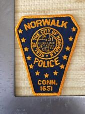 Norwalk Connecticut Police Department Patch Cheesecloth Reverse Ct