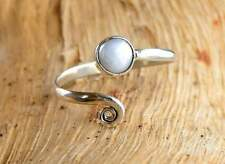 Solid 925 Sterling Silver Toe Ring Sea Pearl Stone Adjustable Toe ring Toering