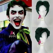 Joker Anthony Misiano Short Straight Dark Green Color Movie Party Cosplay Wig