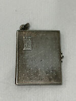 Vintage Antique Sterling Silver Photo Locket w/ Two Pics of a Woman