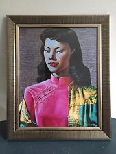 Miss Wong, Oriental Woman, Vladimir Tretchikoff. Framed Retro Print