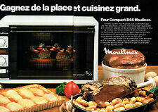 Publicité Advertising 028  1978    Moulinex  four compact B55  (2 pages)