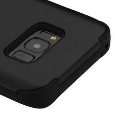 SAMSUNG GALAXY S8+ PLUS G955 FULL BLACK TUFF 3-PIECE CASE HYBRID IMPACT COVER