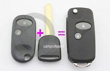 2 Button Conversion Flip Remote Key Shell Fob for Honda Accord Civic Jazz S2000