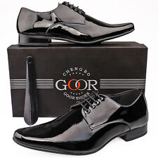 Mens New Black Leather Lined Patent Wedding Formal Suit Shoes 6 7 8 9 10 11 12
