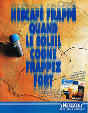 PUBLICITE ADVERTISING 015  1996  NESCAFE  FRAPPE  café soluble
