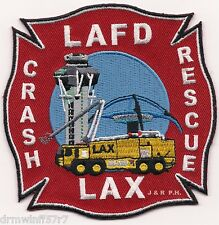 """*NEW STYLE*  Los Angeles - L.A.X.  Crash - Rescue, CA (4"""" x 4"""" size)  fire patch"""