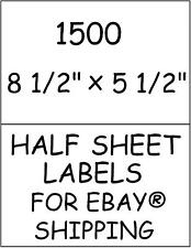 1500 HALF SHEET STICKY! LABELS FOR EBAY® SHIPPING