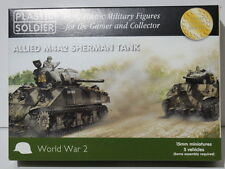 15mm USA M4A2 Sherman tanks by Plastic Soldier Company (PSC), suit Flames of War