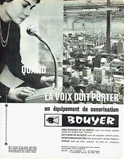 Publicité Advertising   1964  sonorisation Bouyer  amplification parole