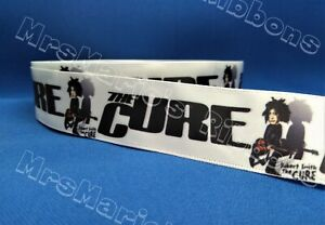 The Cure Gothic rock themed satin cake/craft/hair ribbon @ MrsMario's