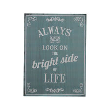 Bright Side Wall Plaque Wall Hanging Motivational Quote Home Decorative Sign