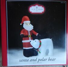 Santa and Polar Bear Trim a Home 60 inch Inflatable indoor/outdoor Christmas