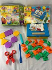 Play doh Sesame Street  cut and make Shapes Letter desk storage box