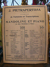 Partition J Pietrapertosa Mireille Fantaisie Transcriptions Mandoline et Piano