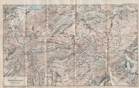 1903 ANTIQUE MAP- SWITZERLAND-THE GRINDELWALD